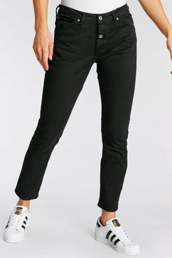 please jeans boyfriendbroek p06d met markante 2 knoopsluiting zwart