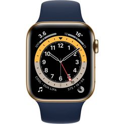 apple smartwatch series 6 gps + cellular, edelstahlgehaeuse mit sportarmband 44mm series 6 gps + cellular, edelstahlgehaeuse mit sport loop 44mm apple watch series 6, oled, touchscreen, 32 gb, wlan, gps series 6, oled, touchscreen, 32 gb, wlan, gps series 6, gps + cell inclusief oplaadstation (magnetische oplaadkabel) blauw