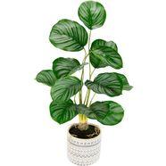 andas kunstplant lennja in een keramische pot groen