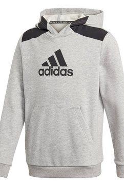 adidas performance hoodie logo grijs