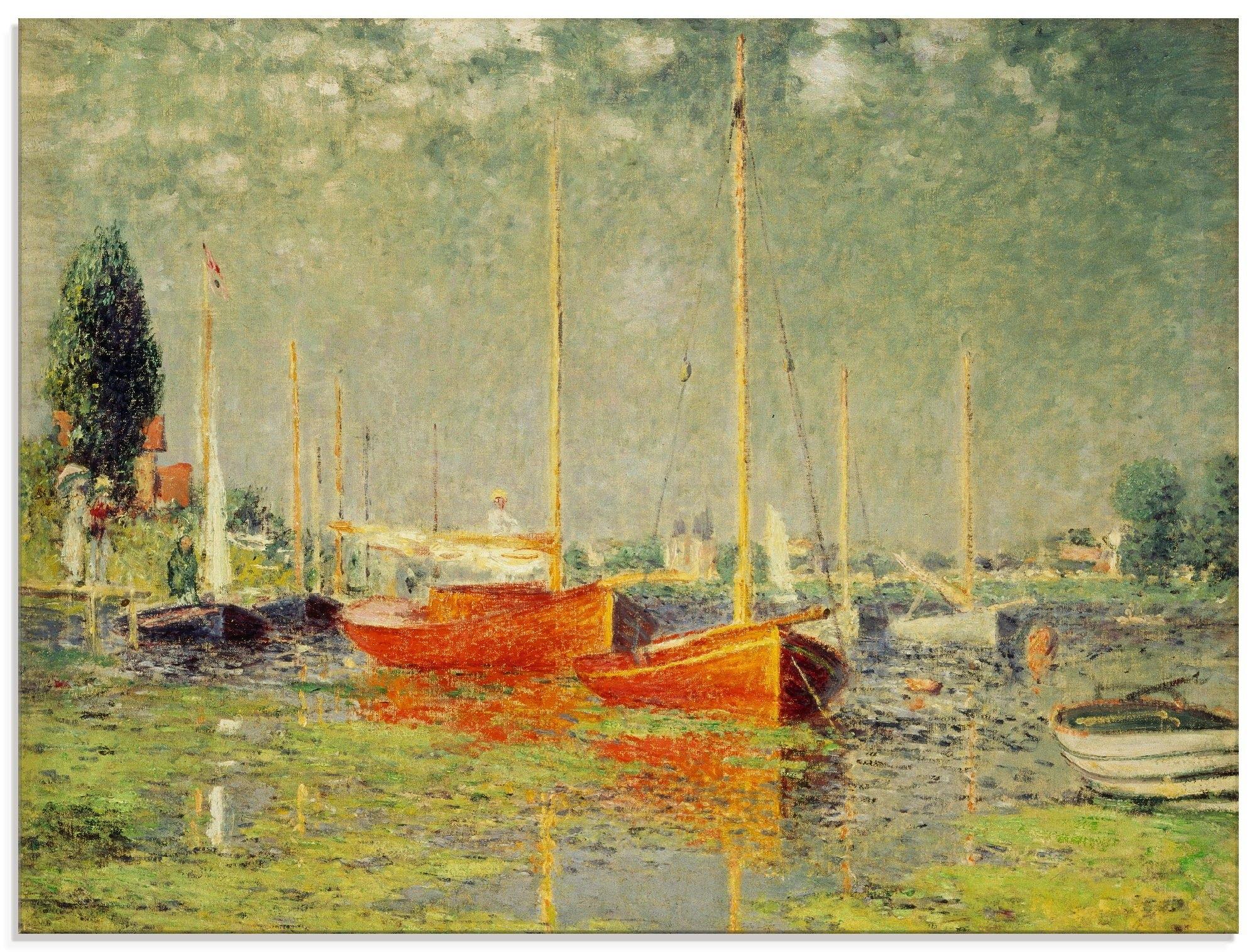 Artland Print op glas De rode boten van Argenteuil. 1875 (1 stuk) veilig op otto.nl kopen