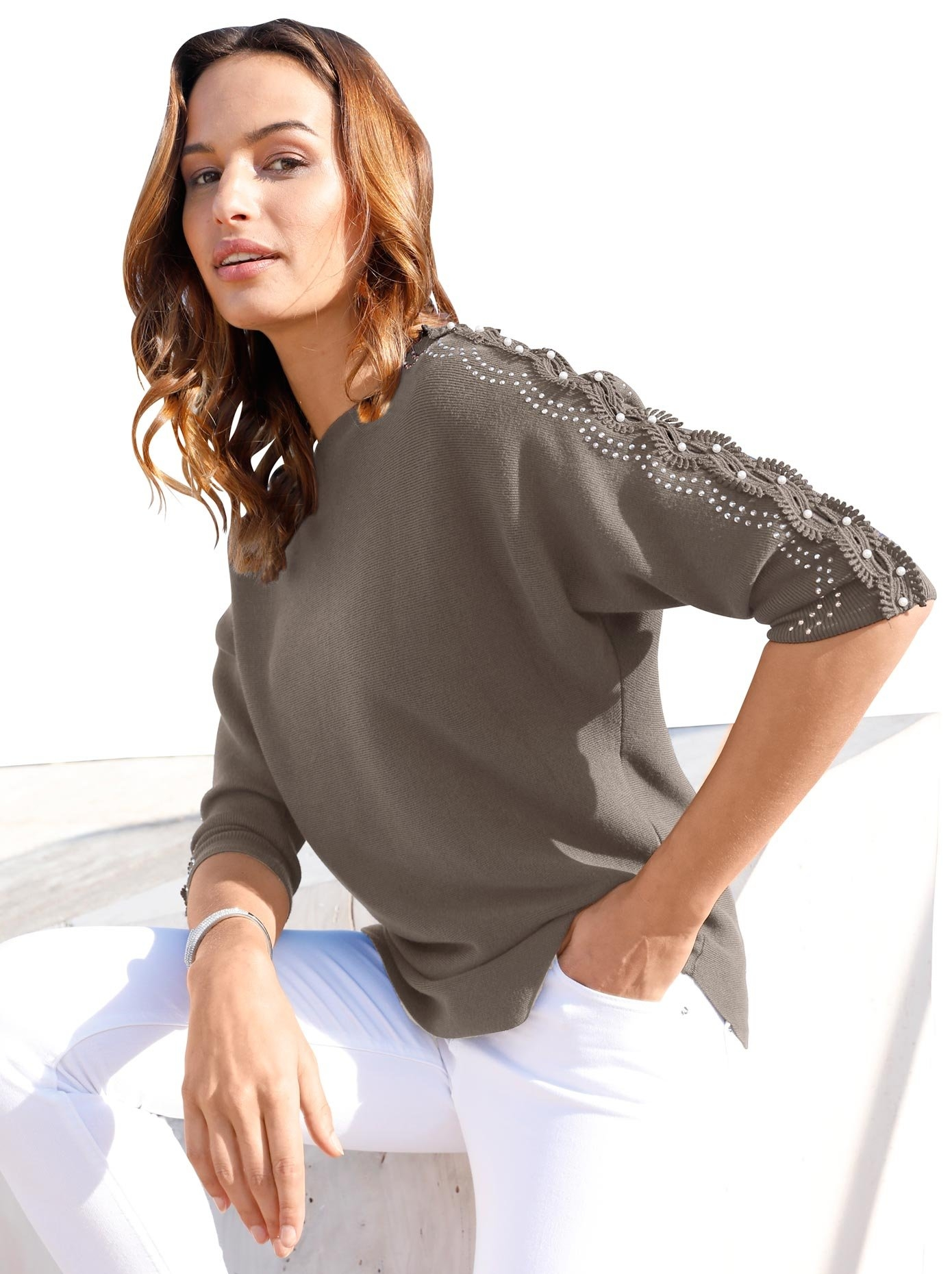 Lady trui met glinstersteentjes en sierkraaltjes - verschillende betaalmethodes