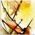 artland print op glas lichtklang (1 stuk) geel