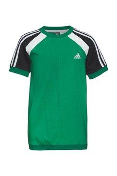adidas performance t-shirt »comfort colorblock« groen