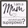 artland artprint mama superpower (1 stuk) roze