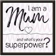 artland artprint »mama superpower« roze