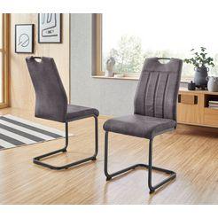hela stoel nicole 2 of 4 stuks (set) zwart