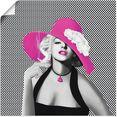 artland artprint marilyn in popart in vele afmetingen  productsoorten - artprint van aluminium - artprint voor buiten, artprint op linnen, poster, muursticker - wandfolie ook geschikt voor de badkamer (1 stuk) roze