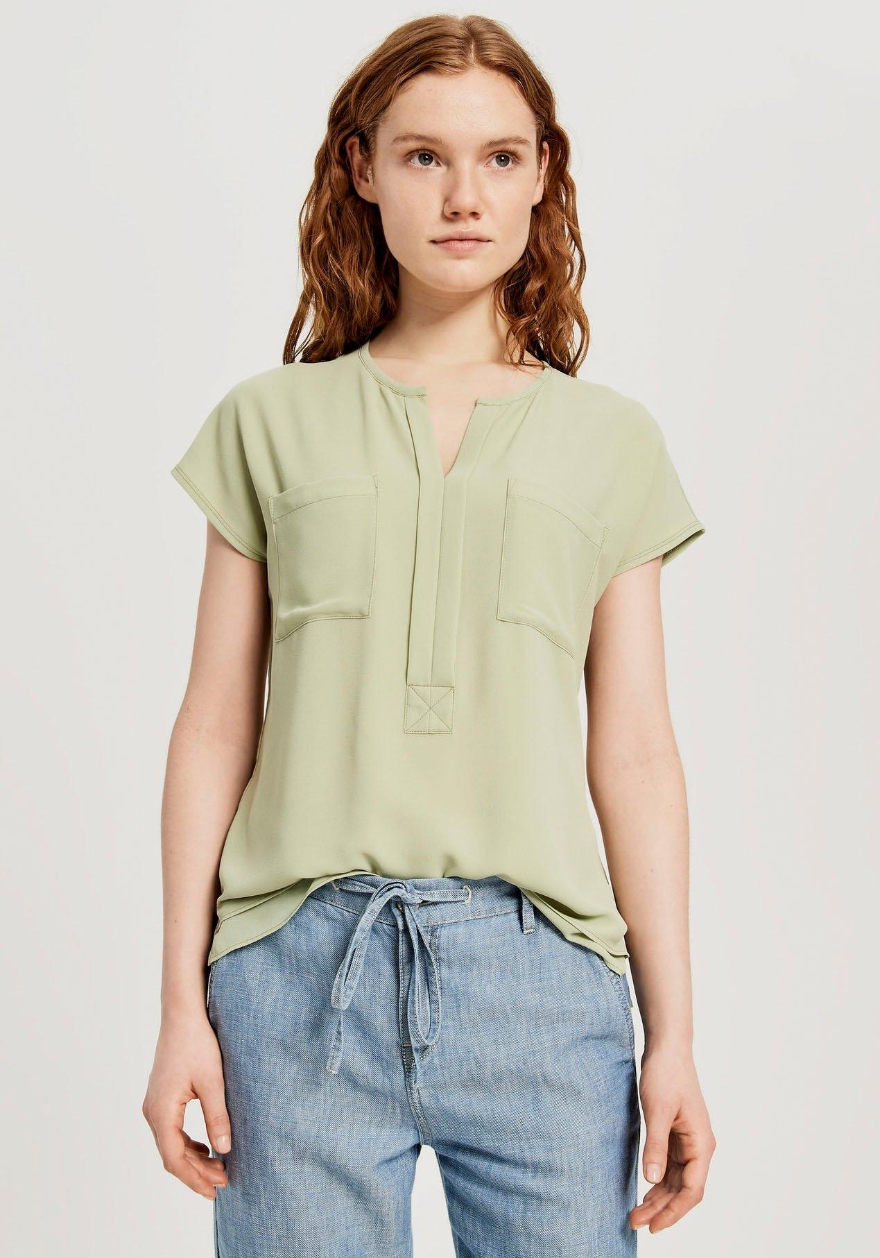 OPUS blouse met korte mouwen Flusi In laagjes-look nu online bestellen