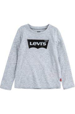 levi's kidswear shirt met lange mouwen »batwing tee« grijs