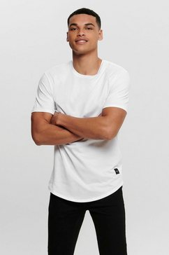 only  sons shirt met ronde hals »onsmatt longy tee« wit