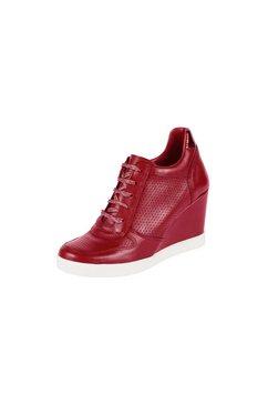 sneakers met sleehak rood