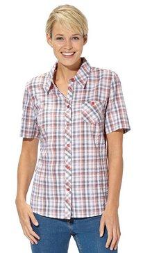 casual looks blouse in strijkvrije kwaliteit rood