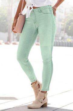 buffalo skinny fit jeans met strepen opzij groen