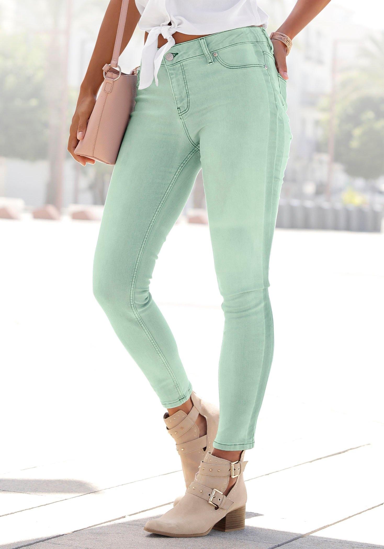 Buffalo skinny fit jeans met strepen opzij nu online bestellen