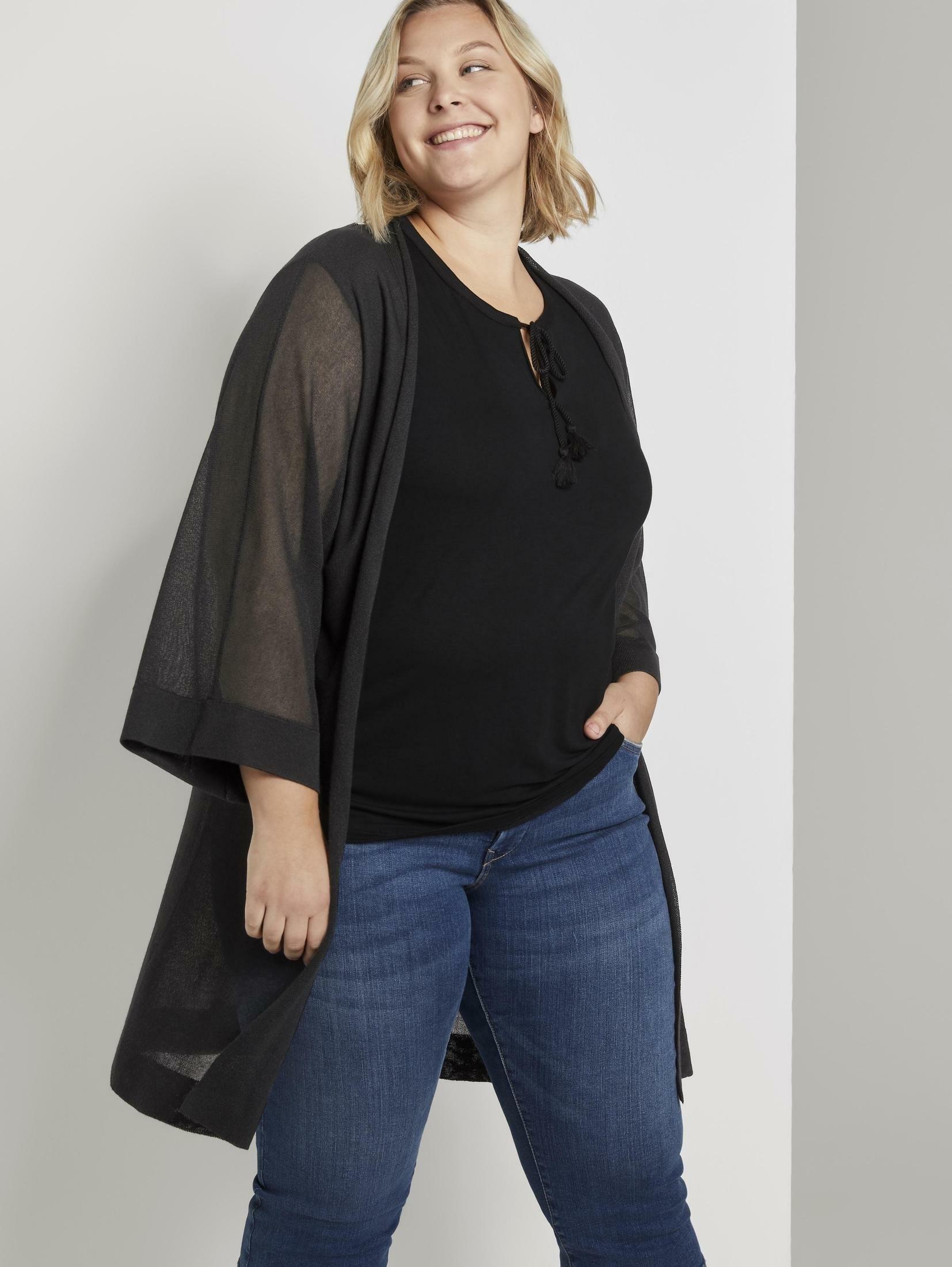 TOM TAILOR MY TRUE ME vest »Lockerer Kimono-Cardigan« bij OTTO online kopen