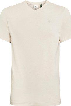 g-star raw shirt met v-hals »base-s« beige