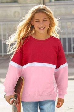 kangaroos sweatshirt zeer wijd model met logoprint rood