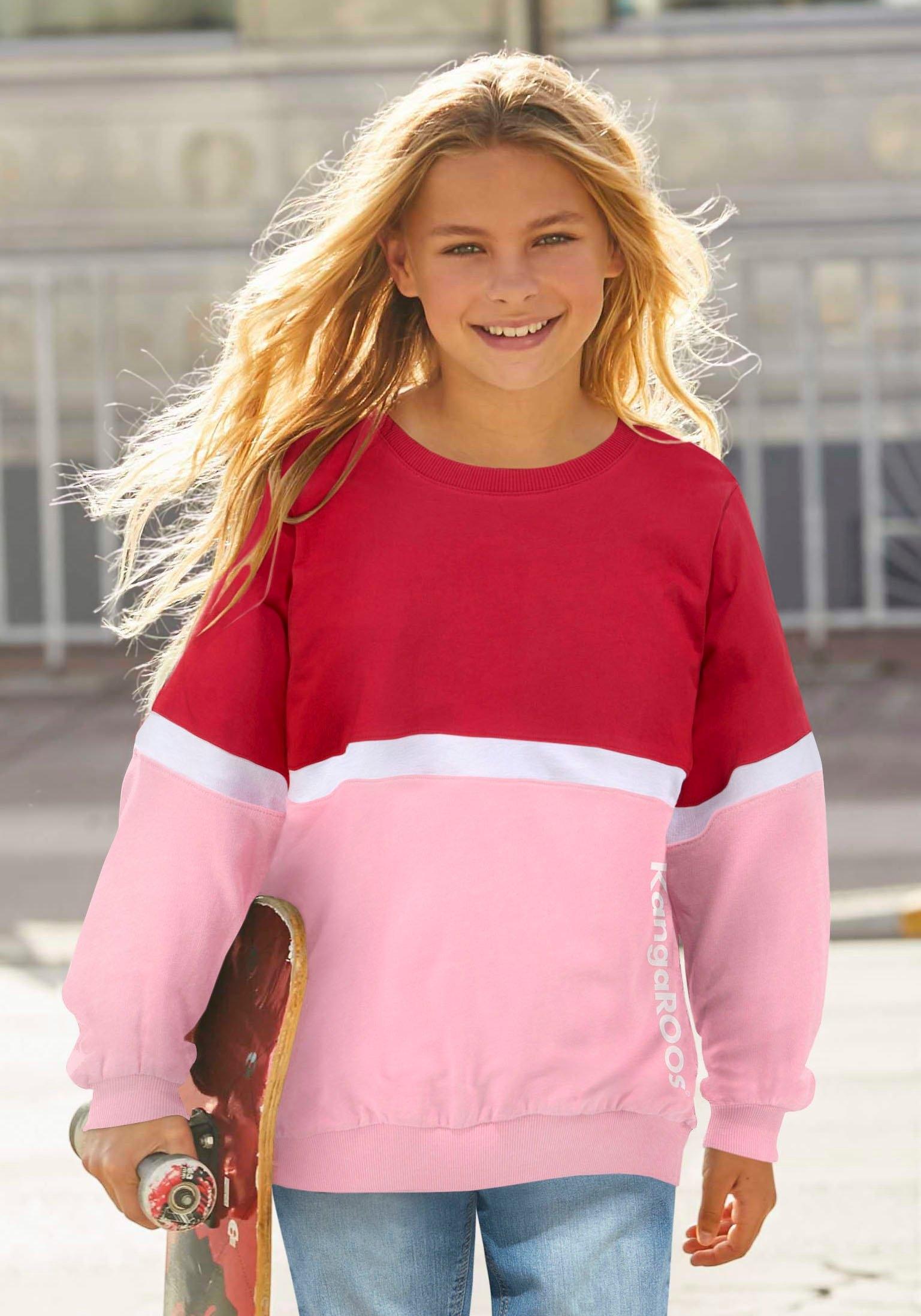 KangaROOS sweatshirt zeer wijd model met logoprint in de webshop van OTTO kopen