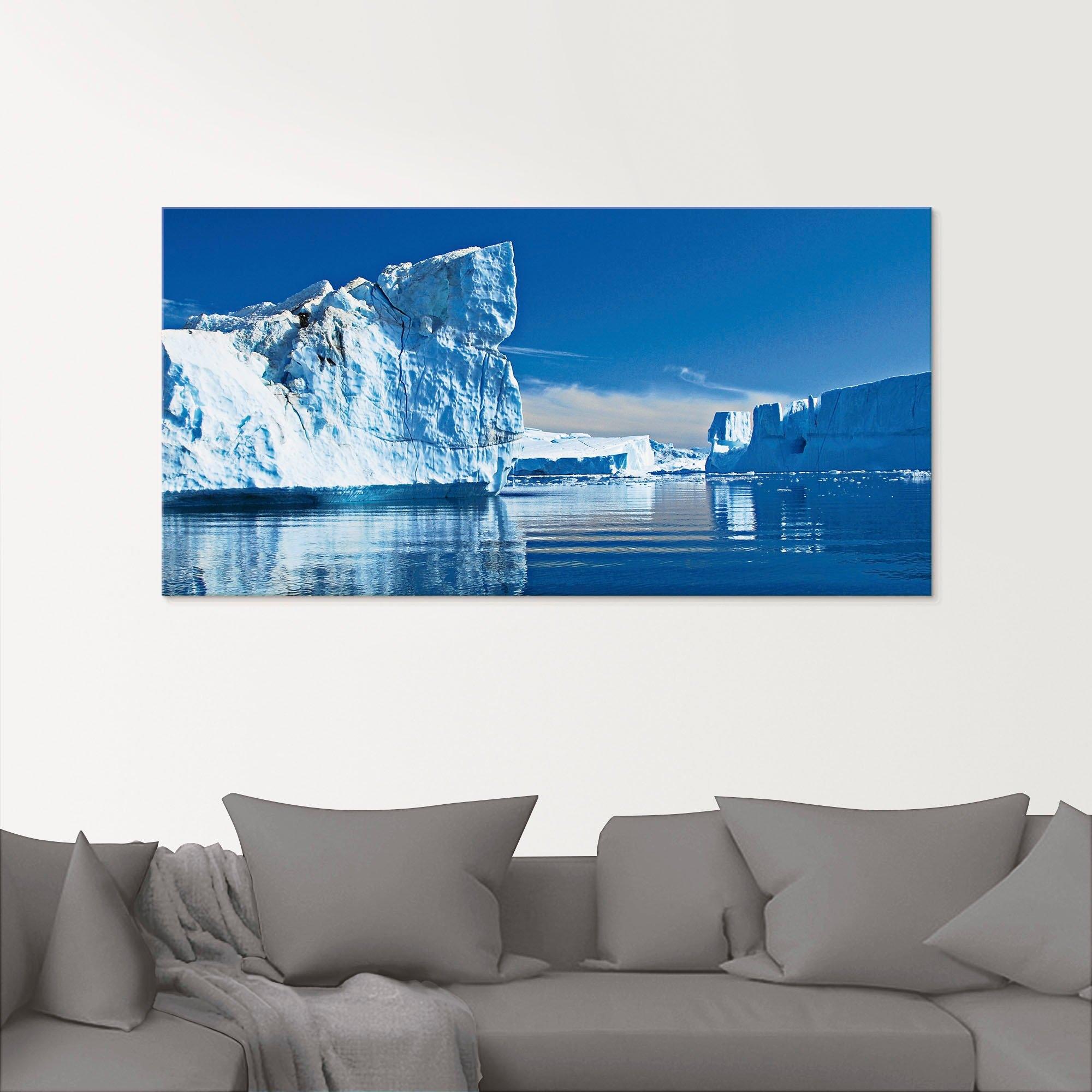 Artland print op glas Ijsbergen - Diskobucht - Groenland (1 stuk) nu online bestellen