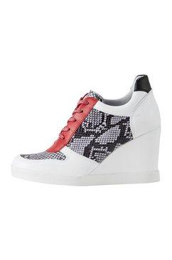sneakers met sleehak wit