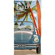 volkswagen strandlaken beach summer met kever (1 stuk) multicolor