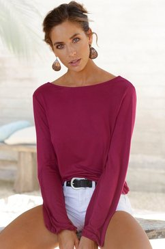 lascana shirt met lange mouwen paars