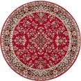 delavita vloerkleed halton korte pool, orint-look, woonkamer rood