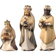 ulpe woodart kribbefiguur drie koningen naar de komeetwieg, handgemaakt (set, 3 stuks) multicolor