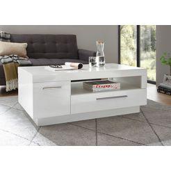 places of style salontafel meran in een modern design met 1 deur, 1 lade en 1 open vak wit