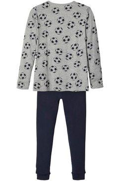 name it pyjama voor voetbalfans (set, 2-delig) grijs