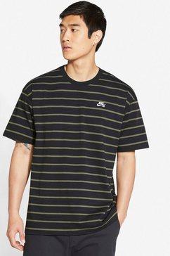 nike sb t-shirt »m nk sb tee yd strip men's striped« zwart