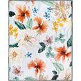 descanso plaid annabelle met bloemenprint multicolor