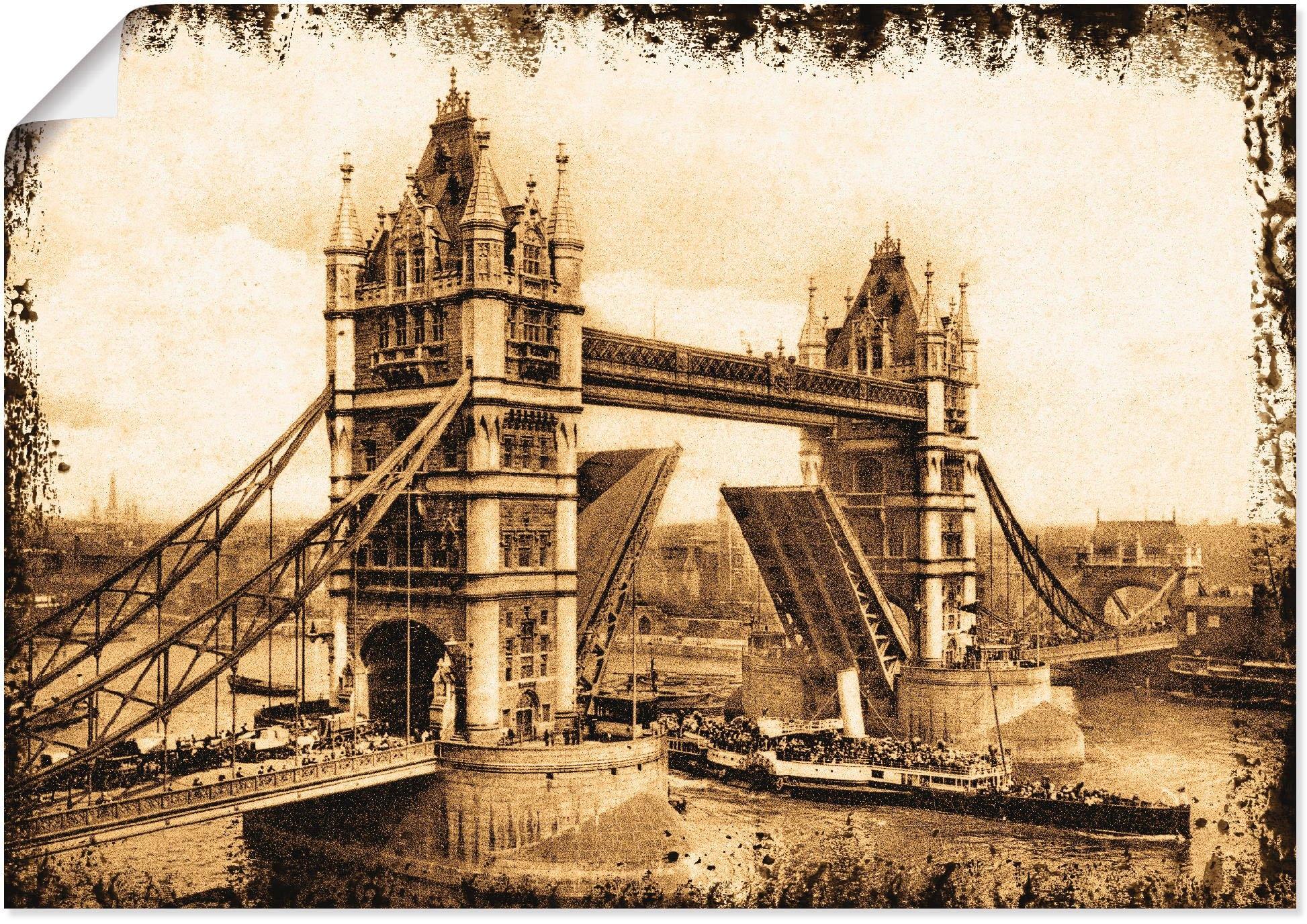Artland artprint Tower Bridge - Londen in vele afmetingen & productsoorten -artprint op linnen, poster, muursticker / wandfolie ook geschikt voor de badkamer (1 stuk) in de webshop van OTTO kopen