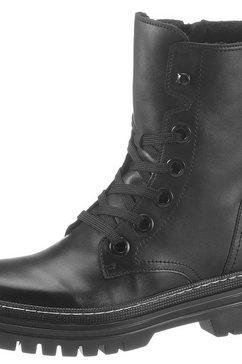gabor hoge veterschoenen met siernaad zwart