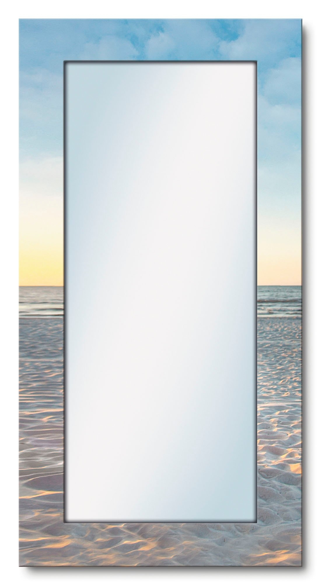 Artland wandspiegel Ostsee7 - strandstoel ingelijste spiegel voor het hele lichaam met motiefrand, geschikt voor kleine, smalle hal, halspiegel, mirror spiegel omrand om op te hangen bij OTTO online kopen