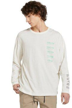 tom tailor denim shirt met lange mouwen beige