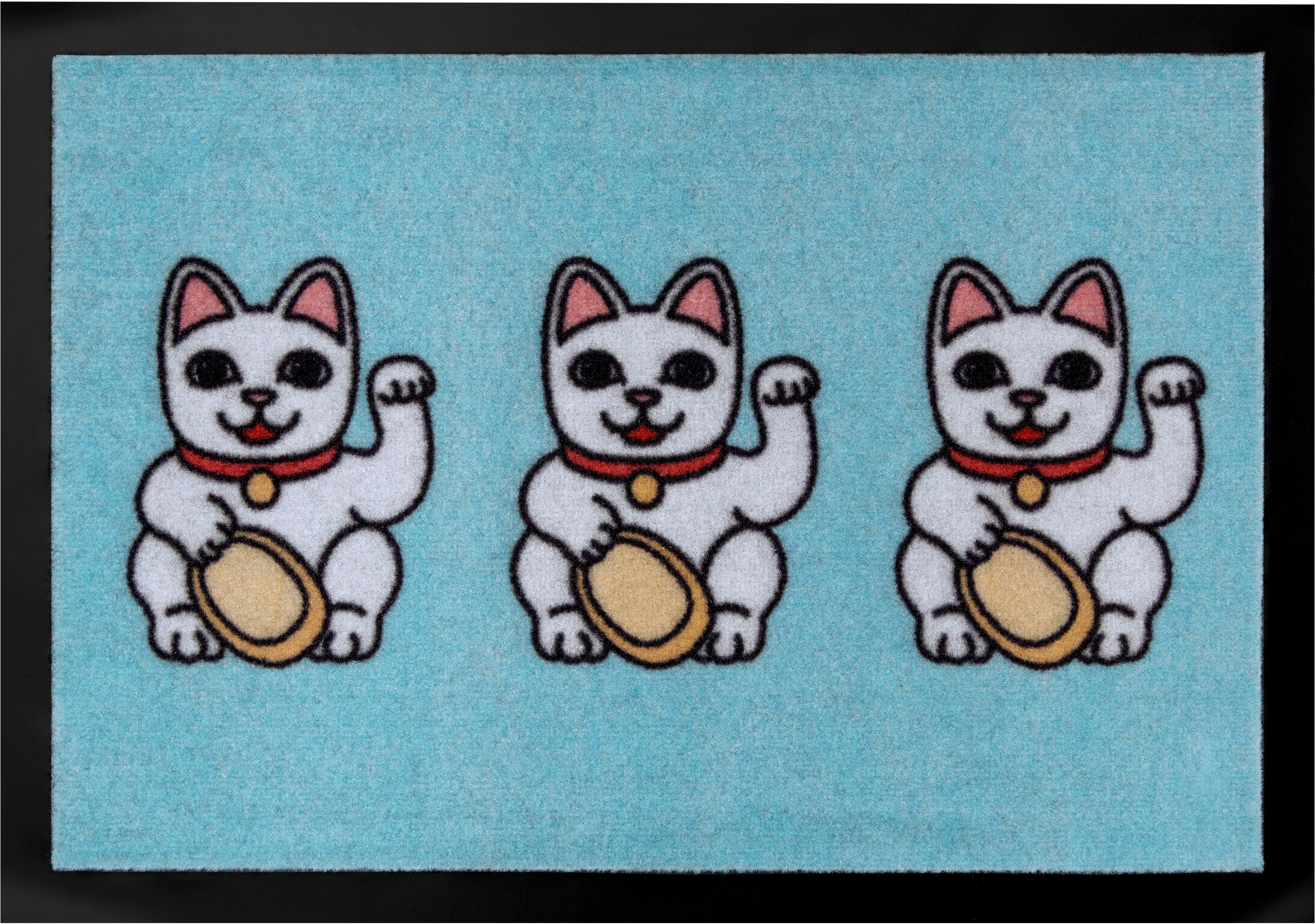 HANSE Home mat »Three Lucky Cats« - verschillende betaalmethodes