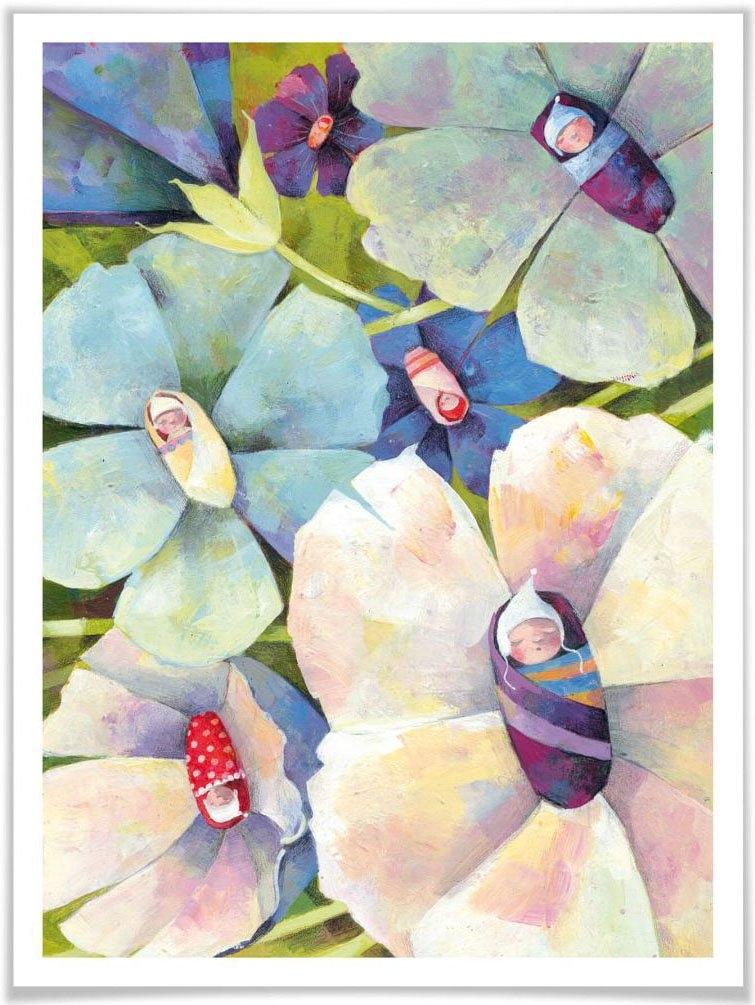 Wall-Art poster Sprookje artprints Bloemenbaby's Poster, artprint, wandposter (1 stuk) goedkoop op otto.nl kopen
