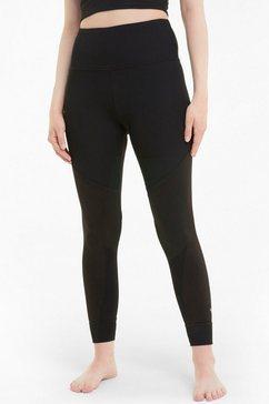 puma yogatights studio rib high waist 7-8 tight plus size in grote maten zwart
