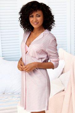 vivance dreams nachthemd met een fijn patroon roze