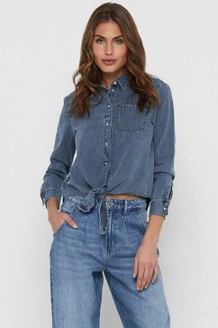 only jeansblouse blauw