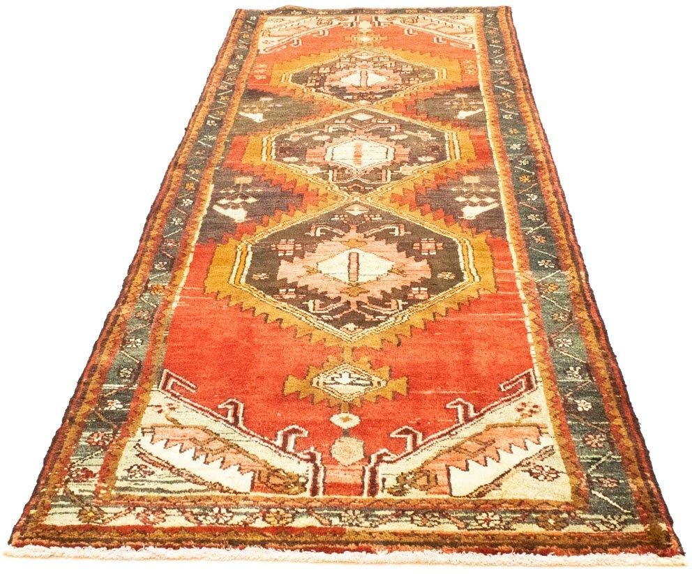 morgenland wollen kleed Hamadan Teppich handgeknüpft rost handgeknoopt nu online bestellen