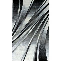 sehrazat oosters tapijt trend 7510 korte pool, woonkamer zwart