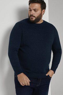 tom tailor men plus gebreide trui blauw