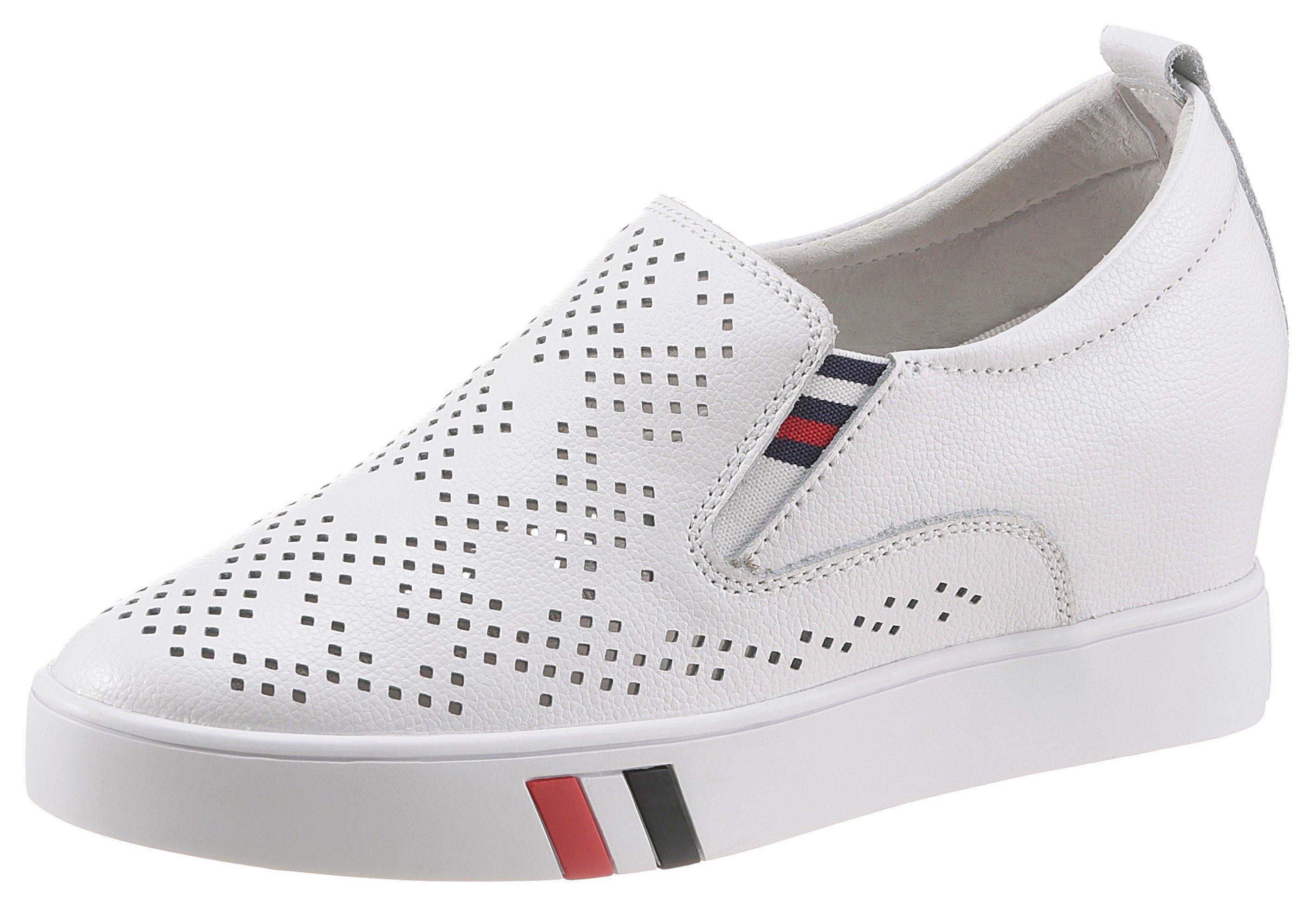 COSMOS Comfort sneakers met sleehak met stretchinzetten opzij goedkoop op otto.nl kopen