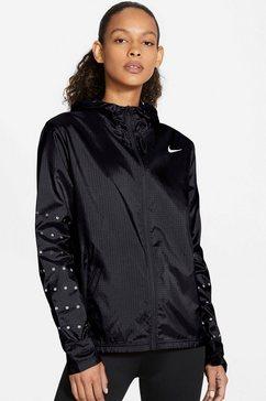 nike runningjack »women's hooded running jacket« zwart