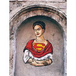 gc artprint lediesis frida kahlo superwoman (1 stuk) multicolor
