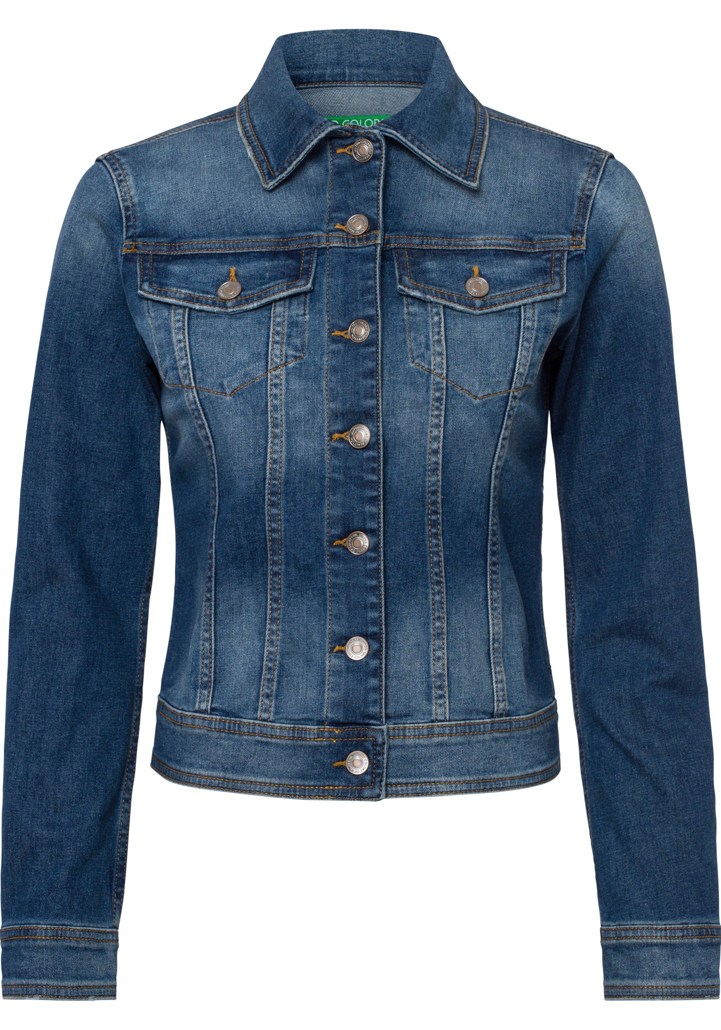United Colors of Benetton jeansjack met markante naden veilig op otto.nl kopen