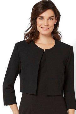 hermann lange collection korte blazer corinna uit jersey zwart